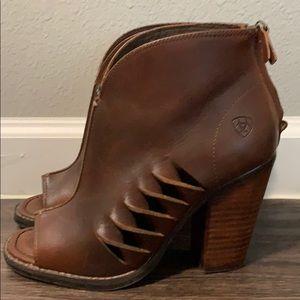 Ariat Shoes - Women's Ariat Lindsley Cedar Open Toe Fashion Boot